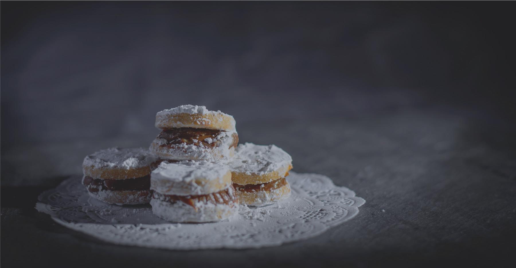 el pollo inka alfajores shortbread cookies